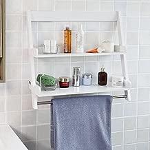 Haotian White Floor Standing Tall Bathroom Storage Cabinet with 3 Shelves and 1Door,Linen Tower Bath Cabinet, Cabinet with Shelf (FRG117-W)