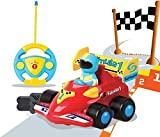 PowerLead Ferngesteuertes Auto Kindergeschenk, Verngesteuertes Auto mit Musik RC Cartoon, Autos mit Fernbedienung für Kleinkinder und Kinder Spielzeugauto für Kinder von 2-8 Jahren Geeignet -