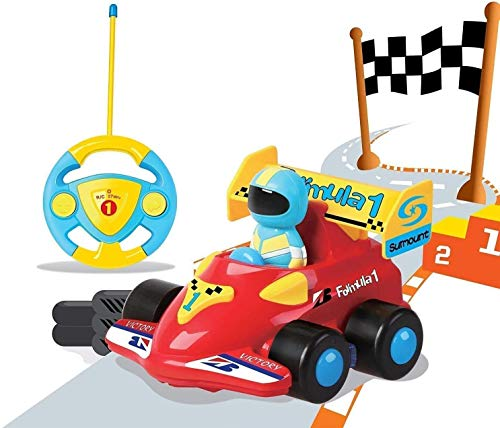 PowerLead Ferngesteuertes Auto Kindergeschenk, Verngesteuertes Auto mit Musik RC Cartoon, Autos mit Fernbedienung für Kleinkinder und Kinder Spielzeugauto für Kinder von 3-8 Jahren Geeignet