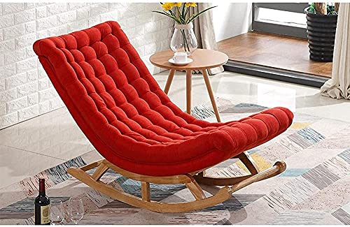 IOUYRRN Foldable Deck Chair Rocking Chair Multifunctional Nap Chair Armchair Relaxing Recliner Chair Upholstered for Living Room Bedroom-B (Color : D)