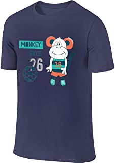 STDONE Men's Customized Breathable Tees Cute Monkey with Soccer Tshirts