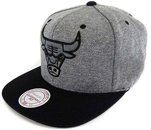Mitchell & Ness Chicago Bulls Jersey Grey Black EU449 Snapback cap Kappe Basecap