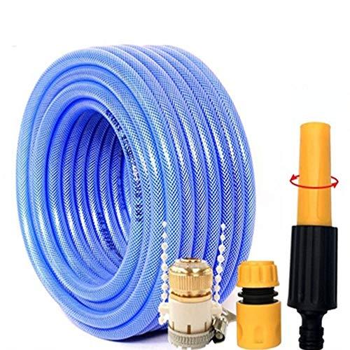 Flexibele tuinslang met 10-20 m aansluiting van koper en pistool voor tuinslang binnendiameter 11,5 mm (blauw)