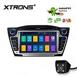 XTRONS 7' Android Autoradio mit Touchscreen Android 9.0 Quad Core DVD Player Voll RCA Ausgang WiFi 4G Bluetooth 2GB RAM 16GB ROM DAB OBD2 Funktion FÜR Hyundai IX35/Tucson (Autoradio mit...