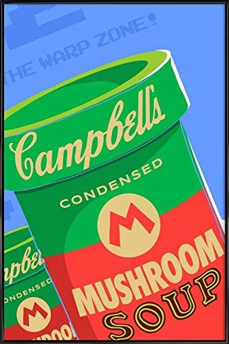 Juniqe Design Welcome to The Warhol Zone - Pop Art Affiche sous Cadre Standard 60x90cm in Bleu & Rouge - créé par Butcher Billy