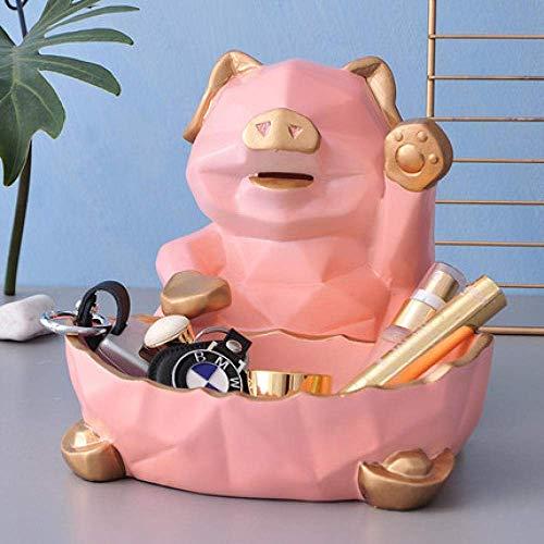 YASEking Decoraciones del Arte del Arte Cerdo decoración Enfriador de Vino Sala de Almacenamiento Lindo Regalo Carcasa del televisor Estudio Cuadro de cenar la Tabla 3