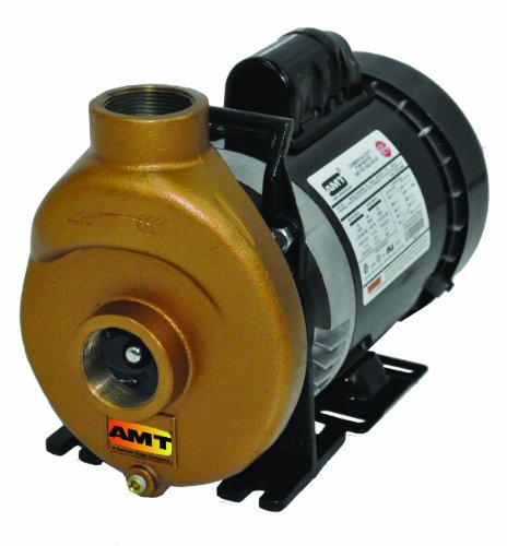 AMT Pump 388F-97 Inline Centrifugal Pump, Bronze, 1/2 HP, 1 Phase, 115/230V, Curve A, 1-1/2' NPT Female Suction & Discharge Ports
