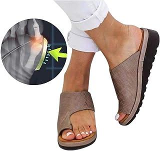 QUUY Zapatos cómodos con Sandalias de Plataforma para Mujeres, Zapatos de Viaje de Playa para el Verano, Sandalias y Zapatillas Romanas con Punta Gruesa de Leopardo