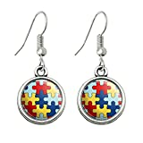 GRAPHICS & MORE Autism Awareness Diversity Puzzle Pieces Novelty Dangling Drop Charm Earrings