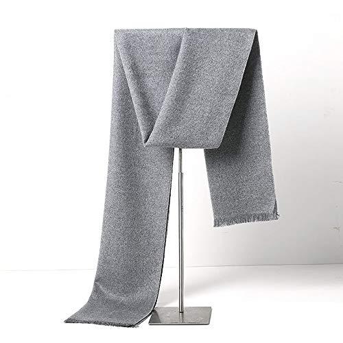 Freddo Protezione Uomo Sciarpa Casuale Sciarpe in Tinta Unita da Uomo A Maglia Formato Uno Caldo Lungo Marmitta Uomo (Colore : Grigio, Size : 180x30cm)