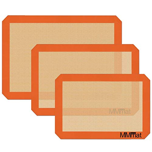 MMmat Silicone Baking Mats - Best German Silicone, Set of 3