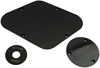 Musiclily Plastic Backplate and Switch Plate for Epiphone Guitar,3ply Black