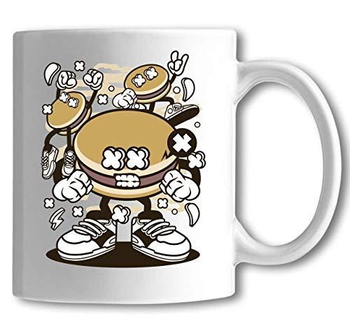 Dorayaki Funny Food Party Cartoon Art White Ceramic Tea Coffee Mug