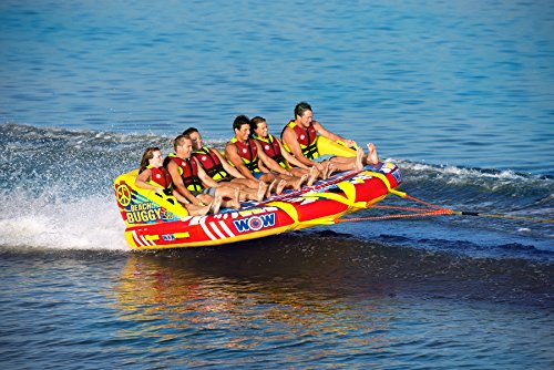 Wow World of Watersports Beach Buggy 1 2 3 4 5 or 6 Person Inflatable Towable Tube for Boating, 15-9000