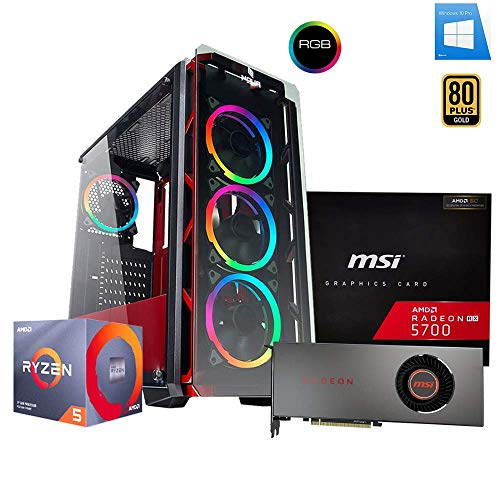 Pc gaming ryzen 5 3600 4,2GHz Max,Scheda video Rx 5700 8gb, Ram Ddr4 16 Gb 3000 MHz,Ssd m.2 512 Gb, Ryzen 5,Windows 10, PSU 650W 80 Plus Gold,Computer da Gaming assemblato Pc desktop ryzen