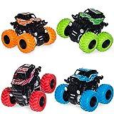 4 Pack Monster Truck Toys for Boys and Girls, Inertia...