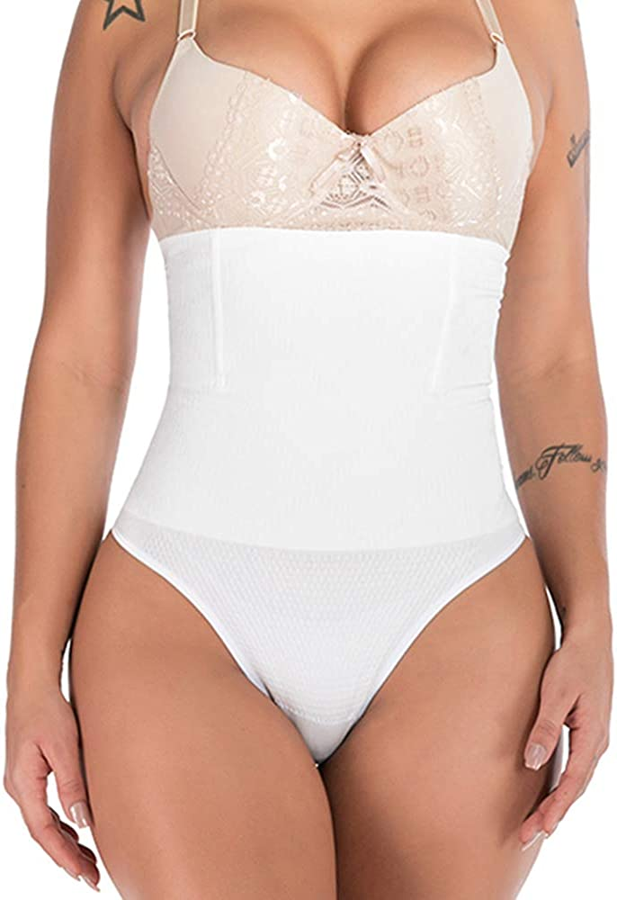 JANSION Women High Waisted Shaper Panty Tummy Control Cincher Girdle Slimmer Thong