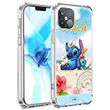 DISNEY COLLECTION iPhone 12 PRO Max Case Lilo And Stitch Wallpaper Shock-Skid Scratch-Resistant Military Grade Protection Hard PC + Flexible TPU Crystal Clear Cover Case