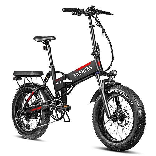 Lixada 20 Pulgadas Bicicleta Eléctrica Plegable 750 W,Ciclomotor Eléctrico Asistido, con Batería de 13,6 AH