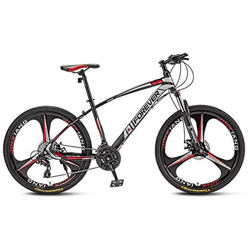 JIAOJIAO Mountainbike Fahrrad männlich Fahrrad Studentin Offroad-Rennen Erwachsene Variable Geschwindigkeit Rennrad-3 Räder Cutter rot_27,5 Zoll 21 Geschwindigkeit für Höhe 170-195cm