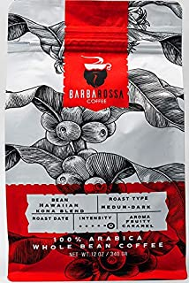 Barbarossa Hawaiian Kona Blend Gourmet Coffee Beans