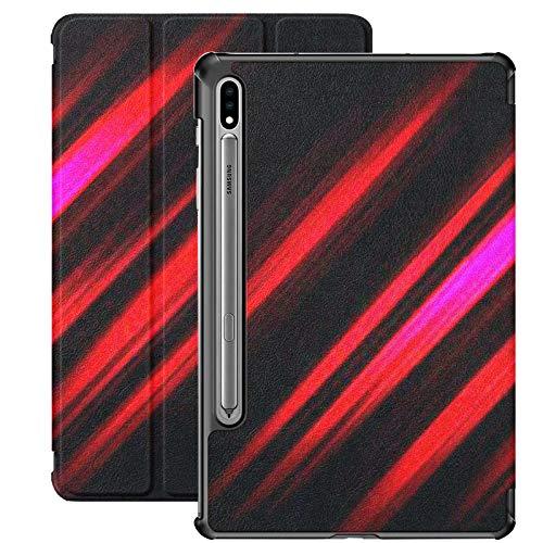 Funda para Samsung Galaxy S7 con Soporte para bolígrafo S Resumen Rojo Negro Patrón de luz Degradado PU Funda de Cuero para Samsung Galaxy Tab S7 11 Pulgadas 2020, Funda para Samsung Galaxy Tab S7 co