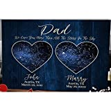 Personalized Dad Star Map Poster We Love You More Than All The Stars On The Sky With Love Happy Father's Day Satin Landscape Poster No Frame All Size 18x12, 24x16, 36x24