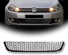 VXMOTOR for 2010-2013 Volkswagen VW Golf / 2010-2014 Jetta SportWagen MK6 - Matte Black Euro Sport Honeycomb Mesh Lower Front Hood Bumper Grill Grille Cover Conversion