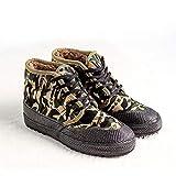 HAOLIN Scarpe Invernali Alte Scarpe di Cotone Scarpe di Tela da Allenamento Militari di Lana Scarpe da Allenamento in Gomma Resistenti all'Usura,Green-44