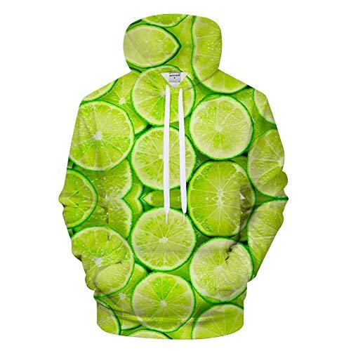 Star source Lemon Slice lässig Hoodie Street kreativ drucken Hoodie Männer Sport Hoodie @ S_Lucky