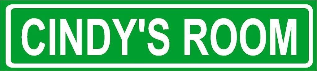 Cindy Room Green Aluminum Street Sign Décor Great OFFicial site Any 4