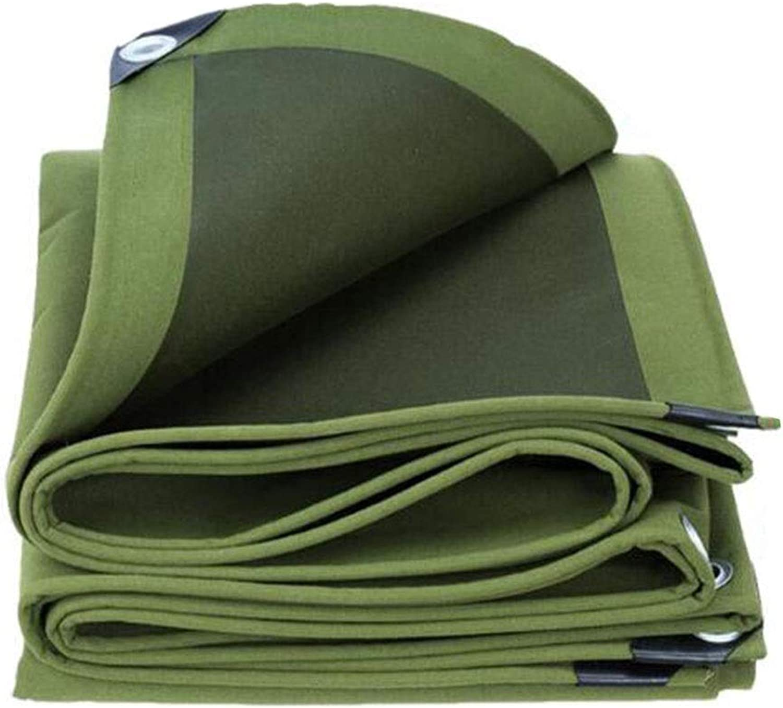 XUERUI シェルター 厚い キャンバス ターポリン、 ヘビーデューティ 防水 日焼け止め レインカバー 庭園 キャンプ 複数のサイズ スポーツ アウトドア (Color : 緑, Size : 4x10m)