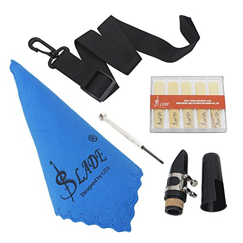 Dilwe 5 en 1 Kits de Clarinete, Boquilla de Clarinete Juego de Destornilladores de Tela de Limpieza de Cinturón Clarinete Herramientas de Accesorios