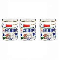 アサヒペン NEW水性建物用 赤1.6L 【まとめ買い3缶セット】