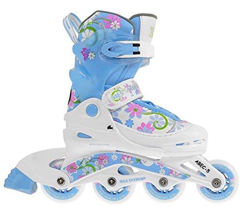 NILS Inlineskates verstellbare Inliner für alle Skates Inlineskating Inline Skate NJ2117A (Blau, 38-41 (L))