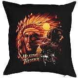 TITAGU Deko/Sofakissen mit Füllung Indianer-Motiv: Blazing Thunder - tolle Geschenkidee für USA...