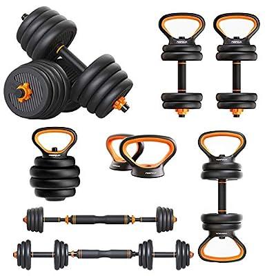 FEIERDUN Free Dumbbells Weights Set Adjustable Barbell Fitness Kettlebells Push Up Stand by FEIERDUN