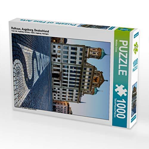CALVENDO Puzzle Rathaus, Augsburg, Deutschland 1000 Teile Lege-Größe 48 x 64 cm Foto-Puzzle Bild von Martina Cross