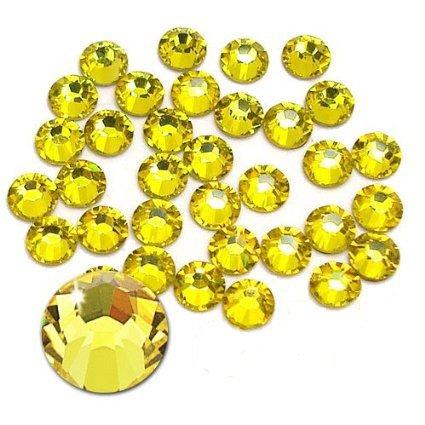 Jollin Flatback Strass Vetro Cristallo Artificiale Gemme Nail Art Diamante Non-Termoadesivi, ss20 576pcs, Citrine