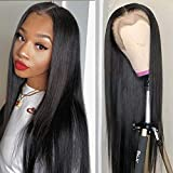 Serwell Straight Lace Front Wigs Human Hair 22 Inch Brazilian Virgin 4x4 Lace Closure Wigs 150% Density Straight Human Hair Wigs for Black Women Pre Plucked with Baby Hair (22 inch)