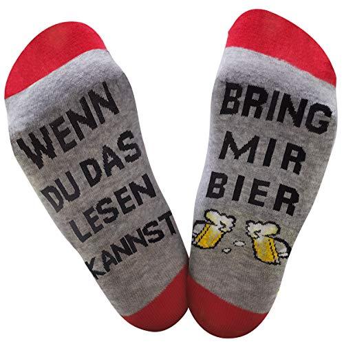 Dealswin Neuheit Socken Lustiges Geschenk: Wenn Du das Lesen Kannst Socken, bring mir Socke für Freund,Party, Baumwollsocken mit Motiv