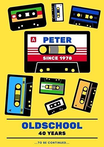 Witziges Geschenk zum 40 Geburtstag – Bild: Oldschool Tapes für Männer und Frauen - mit Namen & Jahr personalisiertes Geburtstagsgeschenk/Geburtstagskarte auf DinA4 Papier für Jahrgang 1978 u.a.