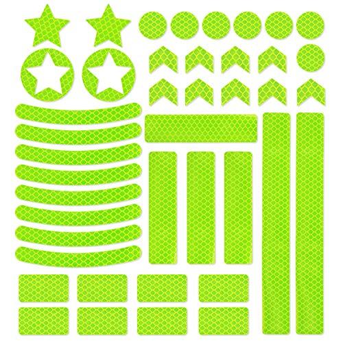JCstarrie Pegatinas reflectoras – 42 unidades de cinta adhesiva reflectante – Calcomanías...