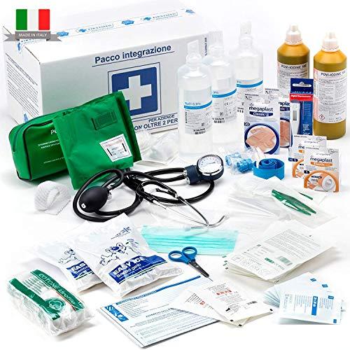 Firstmed 148/6050 - Kit Di Reintegro Allegato 1 Per Cassetta Armadietto Di Pronto Soccorso Medica Compreso Misuratore Di Pressione Per Aziende Più 3 Persone