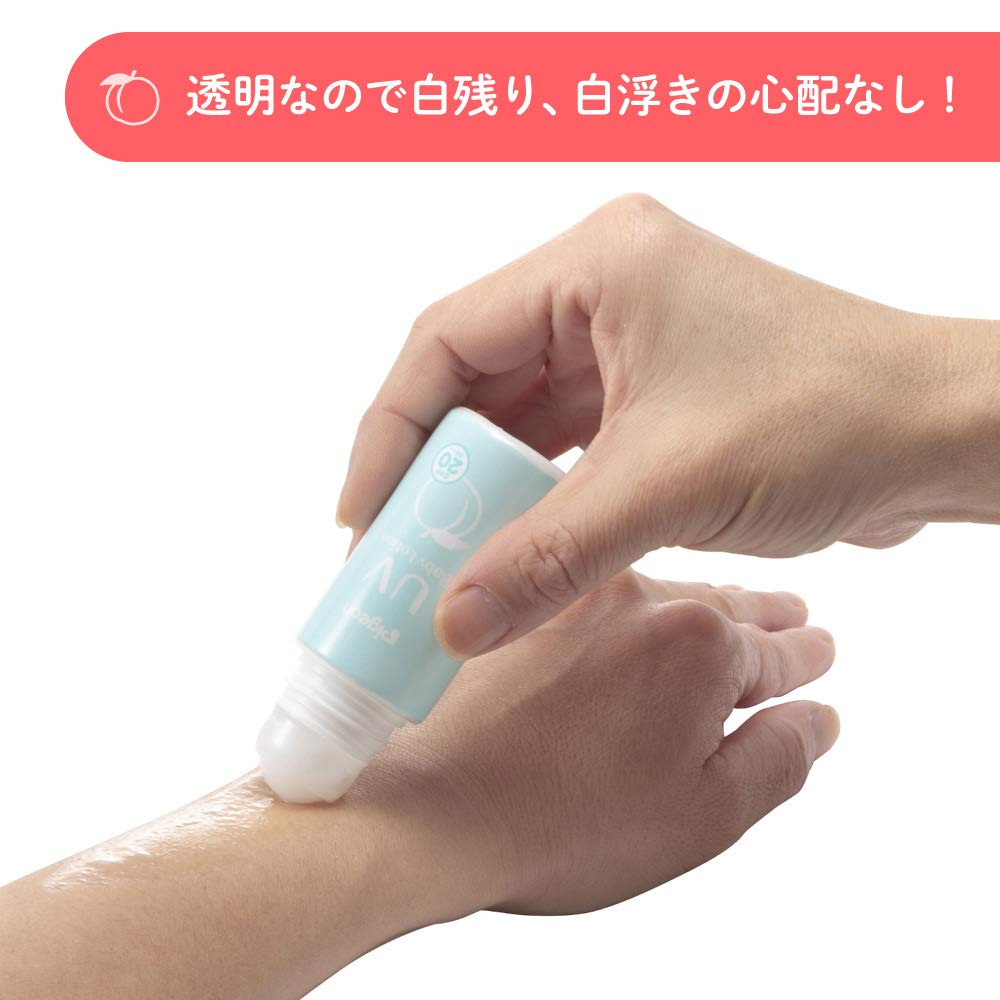 Amazon.com: Pigeon (additive-Free Baby Sunscreen from 0 Months Leaves SPF20  of UV Baby roll-on Thigh: Beauty