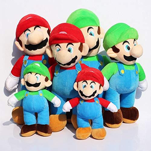 2 stks/partij Super Mario Bros Stand MARIO LUIGI Knuffel Soft Gevulde Knuffels Pop 3 Verschillende Grootte 25 35 40 CM, 16 inch 40 cm