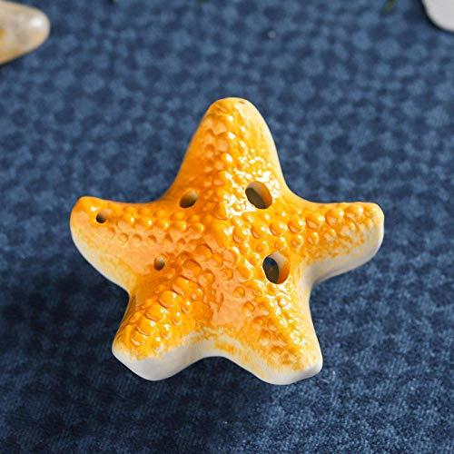 Scenic Gifts Hot Sale Ocean Series Kinder Cartoon Spielzeug 6 Loch Ocarina Alto C Starfish - Yellow Starfish Ocarina