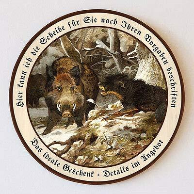 Der Saubeller von Deiker Keiler Hund Angriff Schützenscheibe 55cm Wunschtext 148