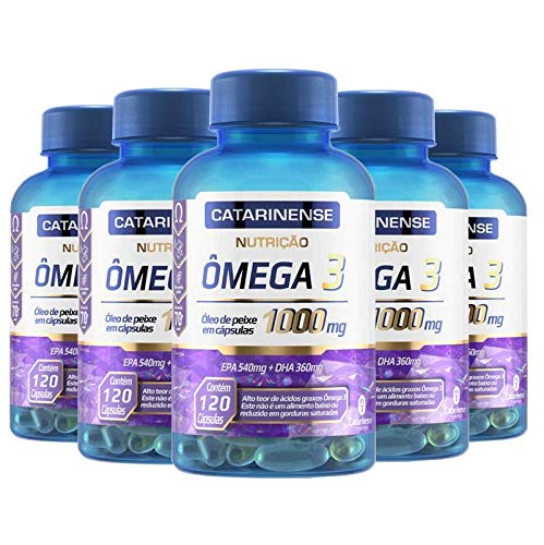 Kit 5 Ômega 3 EPA 540mg DHA 360mg Catarinense 120 cápsulas
