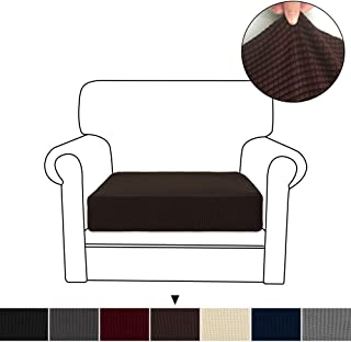 RHF Stretch Cushion Cover Stretch Couch Cushion Covers Cushion Slipcovers Furniture Protector for Sofa Cushion Easy Fitted (Small,Chocolate)
